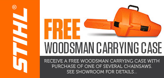 FREE STIHL Woodsman Carrying Case | Lawn Mower Sales and