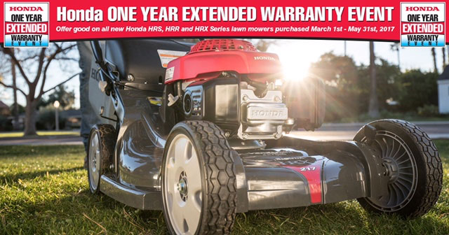 2017 Honda Lawn Mower Extended Warranty Event