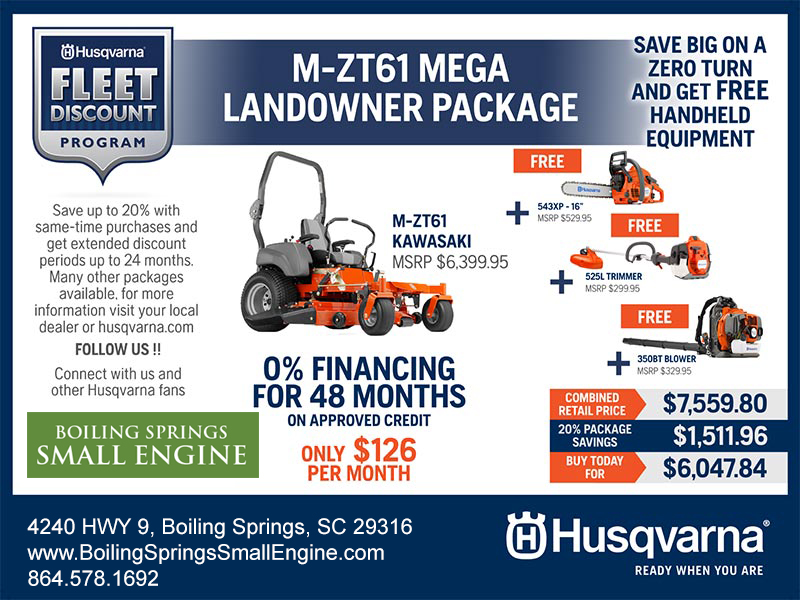 Husqvarna Super Fleet Discount Program