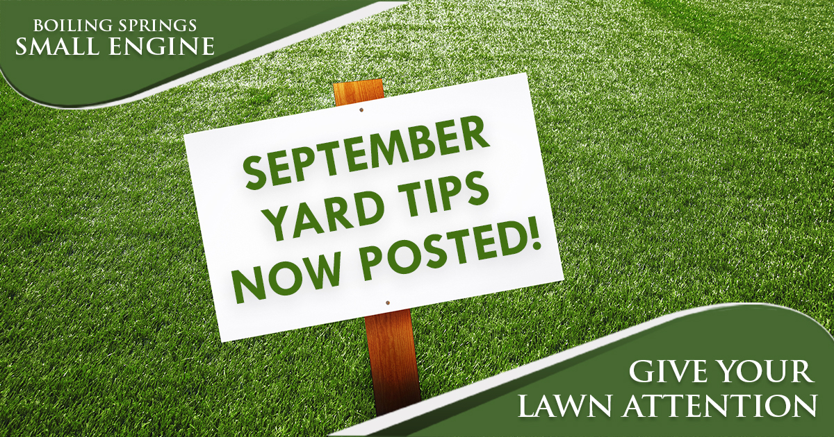 September Tip – Give Your Lawn Attention